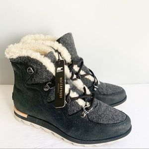 SOREL Sneakchic Alpine Waterproof Leather Boots
